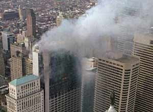 AP Photo/George Widman, FileSmoke pours from the One Meridien Plaza building in Center City Philadelphia in this February 1991 photo.