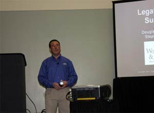 Photo Jamie ThompsonAttorney Doug Wolfberg speaks during a session at EMS Today in Baltimore.
