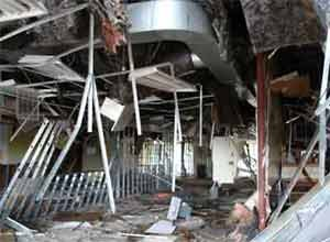 Photo NIOSHThe inside of the building is seen after the explosion.