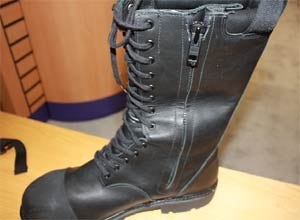 Photo Scott M. BrunerThe Commander is the zip and lace model in Lion Apparel's new Technical Footwear line. It was first introduced at FDIC in Indianapolis.