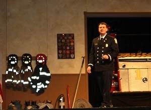 Photo Jamie ThompsonLt. Ricci delivers the keynote speech.