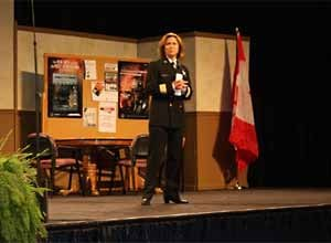 Photo Jamie Thompson Chief Horvath speaks at FDIC.