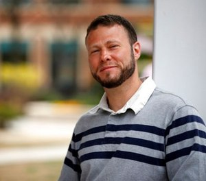 In this photo taken March 30, 2017, Ismail Royer poses for a photograph in Arlington, Va. Royer was been released from prison after serving more than 13 years on charges that he provided assistance to friends who wanted to join the Taliban after the Sept. 11 attacks. (AP Photo/Alex Brandon, File)