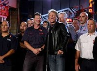 Bon Jovi in 9/11 encore sings for NY firefighters