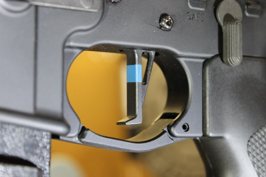 CMC Triggers truly backs the blue. Check out this Blue Line Edition single-stage trigger.