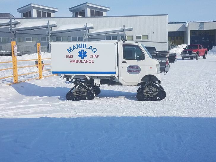 The Maniilaq EMS Association ambulances are equipped for the snow.