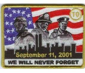 All the net proceeds from the 10-year anniversary patch will be donated to funds relating to police, fire, EMS, and military non-profit organizations.