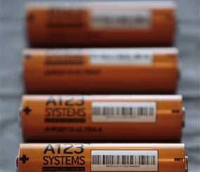 A123 Systems Inc. makes high power Nanophospate Lithium Ion Cell for Hybrid Electric Vehicles.