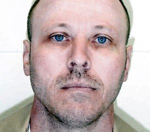 This undated file photo released by the Nebraska Dept. of Corrections shows Carey Dean Moore. (Department of Corrections/The Lincoln Journal Star via AP, File)