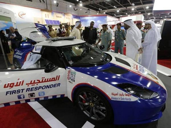 The Lotus Evora ambulance is capable of speeds up to 185 mph. (Photo/Dubai Media Office)
