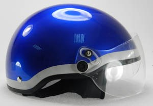 The B2 helmet allows the user to use a stethoscope and has a face shield for splash protection.