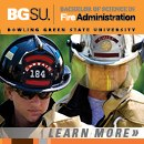 Bachelor's Degree in Fire Administration from BGSU
