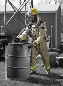 Photo Courtesy Lion ApparelLion Apparel's MT94 CBRN is a one-piece, rearentry suit particular designed to meet vapor, liquid and FR protection, without sacrificing mobility, according to Lion Apparel.