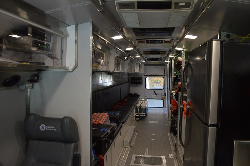 Interior view of the MSU, looking toward rear of unit.