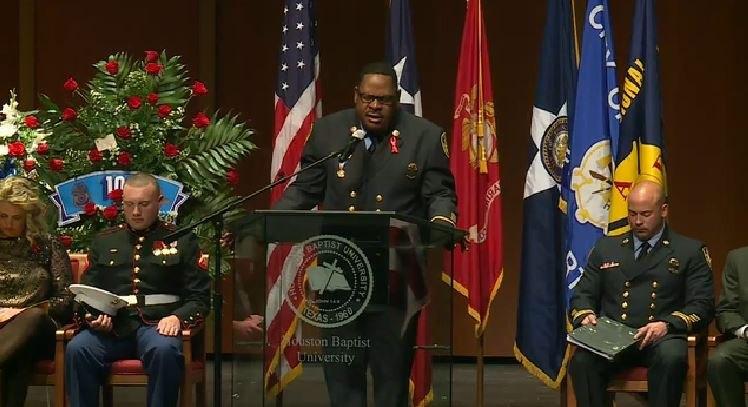 Memorial service for fallen Houston Fire Capt. Bill Dowling. (Courtesy photo)