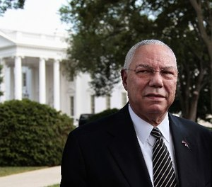 """General Colin Powell, seen in a 2011 photo outside the White House, once famously said, """"Leadership is solving problems. The day soldiers stop bringing you their problems is the day you have stopped leading them. They have either lost confidence that you can help or concluded you do not care. Either case is a failure of leadership."""""""