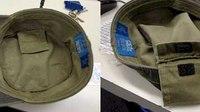 Beware hidden pockets in hats