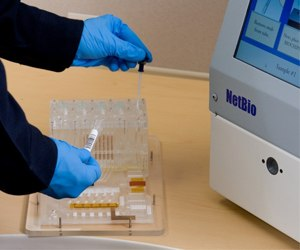 The DNAscan Rapid DNA Analysis System is built for ease of use and ruggedized for the booking station (Photo courtesy GE Healthcare Life Sciences)