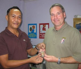 Vest For Life co-founder Clint Reck traveled to the Philippines to meet Captain Bong Dalmatia of the Philippine National Police Force in 2009.