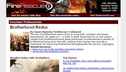 FireRescue eNewsletter