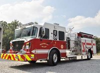 Fire truck visibility: Striping for safety