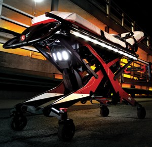 The iN/X is the first of its kind: a powered self-loading stretcher. (Image Ferno)