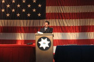 Assistant Sheriff Stephen J. Roderick Opens the Ceremony