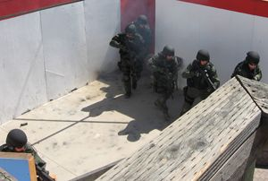 Freemont Police Department SWAT Breaches the Shoot House