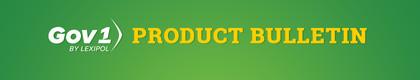 Gov1 Product Bulletin