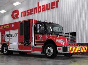 Photo RosenbauerRosenbauer's Smart Cab Rescue Pumper utilizesGreen Star Idle Reduction Technology.