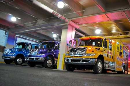 The children hospitalambulances aim to keep children as happy as possible.