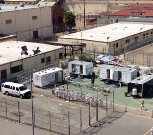 The medical professionals made the difficult but necessary decision to temporarily turn off the water at San Quentin and proceed with the investigation that resulted in discovering the source of the exposure, the cooling towers. The investigation led to the development of new maintenance protocol for use statewide. (Photo/San Quentin State Prison)
