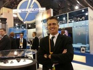 Rick Smith, CEO of TASER International, at IACP 2013 in Philadelphia.