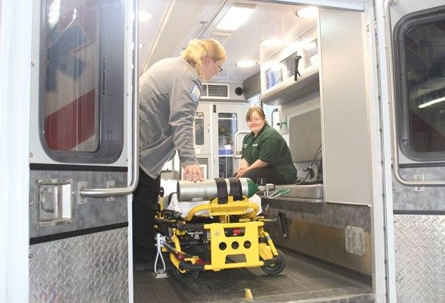 Blair in the ambulance. (Photo/Bainbridge State College)