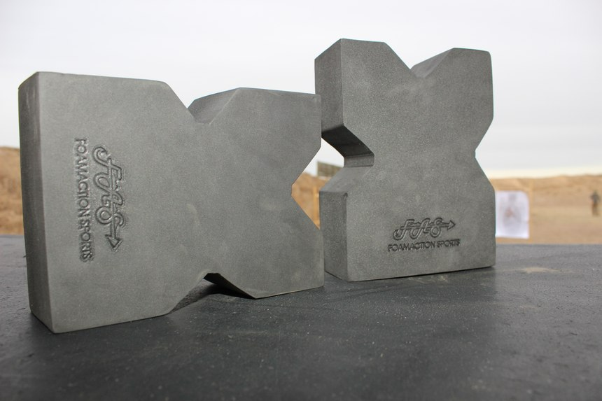 The X-shaped foam shooting rests are lightweight and durable.
