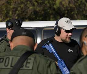 Above, PoliceOne Contributor Kyle E. Lamb trains members of the Fremont (Calif.) PD Tactical Team.