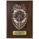 Law Enforcement Shield Plaque
