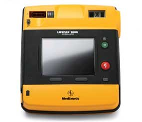 The Lifepak 1000 defibrillator is an automatic external defibrillator (AED) designed for trained responders. (Lifepak Image)