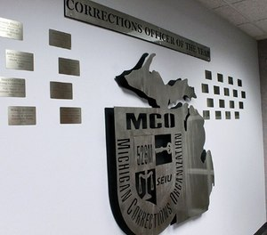 Each Michigan Department of Corrections Officer of the Year now gets special recognition on a wall at Michigan Corrections Organization's office.