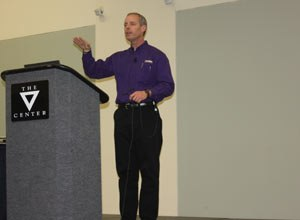 Photo Jamie ThompsonMatt Zavadsky speaks to a session at EMS Today