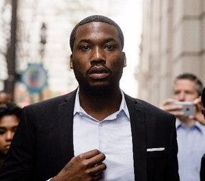 In this Nov. 6, 2017 file photo rapper Meek Mill arrives at the criminal justice center in Philadelphia. (AP Photo/Matt Rourke, File)