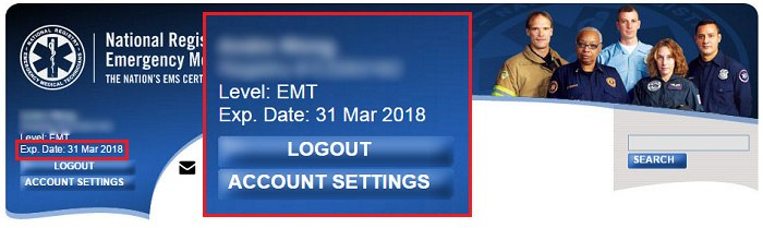The NREMT has made the EMT recert process easy