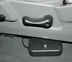 I keep the Nano-vault cabled to the seat bracket in my pickup, allowing me to secure my pistol when I reach a no-carry spot. (PoliceOne Image)