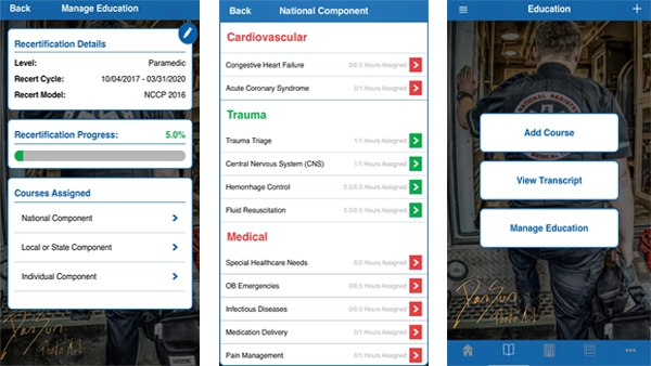 A new iPhone app from NREMT allows EMS personnel to streamline tracking and management of national EMS certification. (Photo/NREMT)