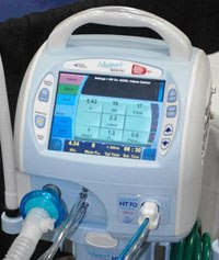 Easy to read display is one hallmark of the Newport HT70 Plus ventilator.