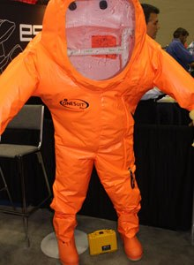 Photo Scott BrunerOne of the most significant features of the OneSuit Pro is that not only does the suit meet NFPA 1991 standards, it is also flame resistant.