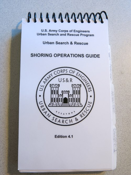 USACE Shoring Operations Guide; keep up with changes in the guide from one edition to another. (Photo/Bob Duemmel)