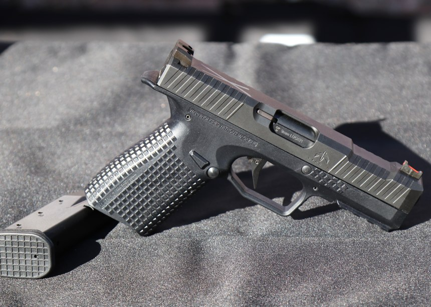 The Archon Type B is a 15-round 9mm handgun that does notlook much different than typical striker-fired guns. The advanced ergonomics, short reset trigger, unusual locking system and engineered reliability put it in a league of its own. (Photo/Gene Whisenand)
