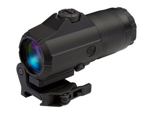 The Juliet line of optics is designed to provide magnification for red dot scopes such as the Sig Sauer Romeo series.