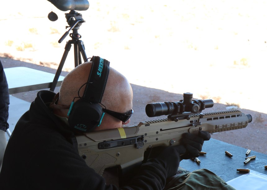 The DesertTech MDR is one of the most modular and ergonomic bullpen configurations on the market. (Photo/Gene Whisenand)